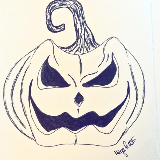 Angry pumpkin - inktober 2016