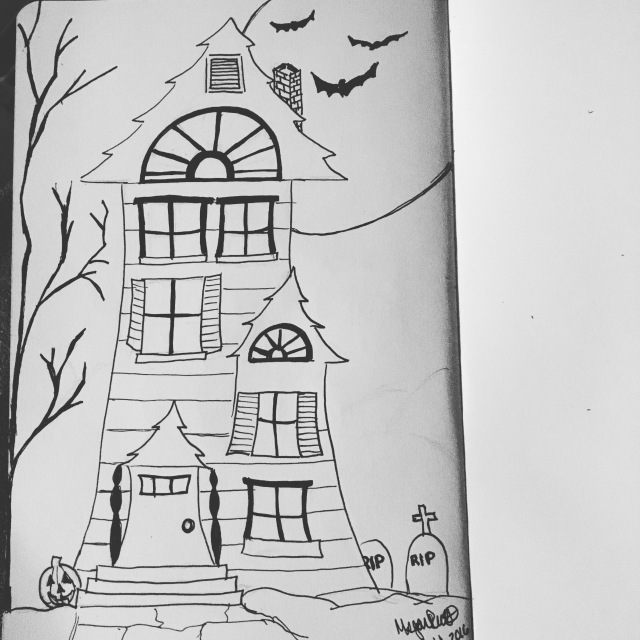 playfully haunted house