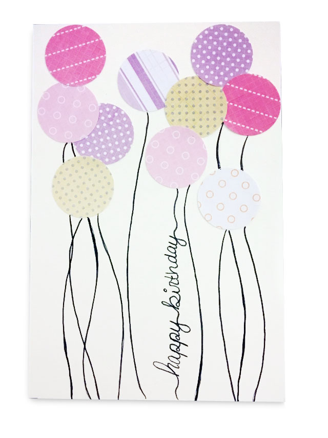 DIY balloon birthday card
