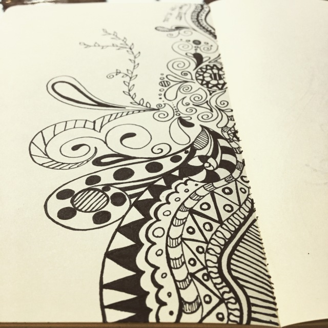 Inktober day 30 - zentangle