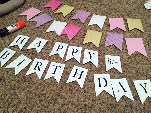 Diy Paper Happy Birthday Flag Banner Make Something Mondays