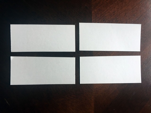 cardstock paper strips
