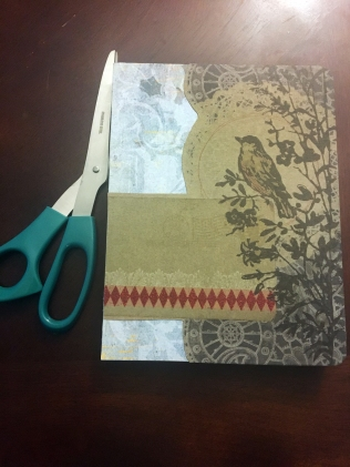 Scrapbook paper layers for smashbook cover