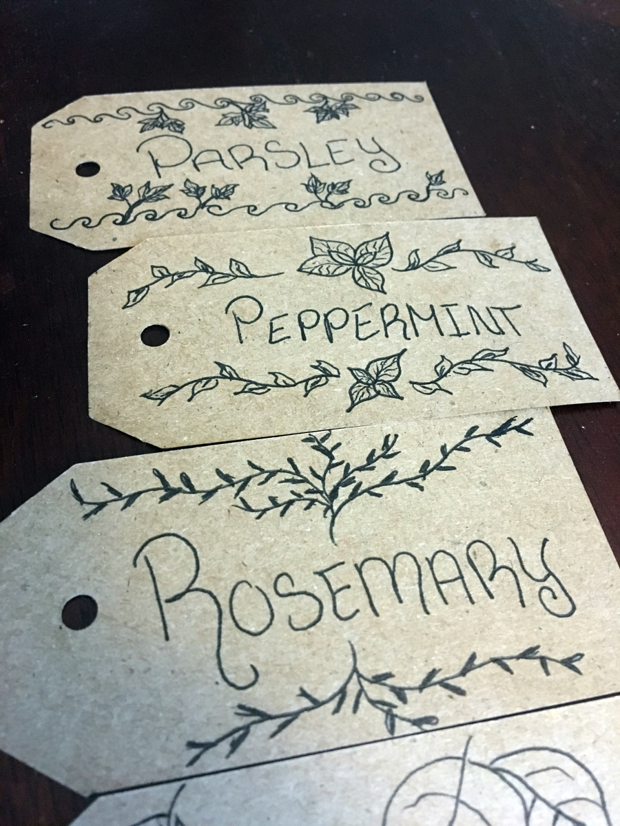 gift tag garden markers