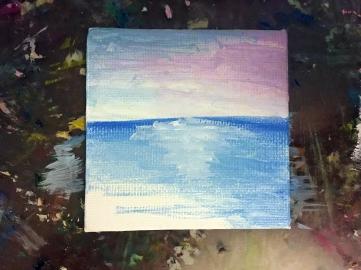 DIY Mini Beach Sunset Painting