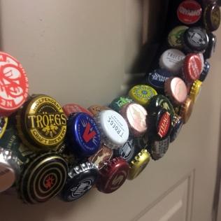 bottle cap wreath macro