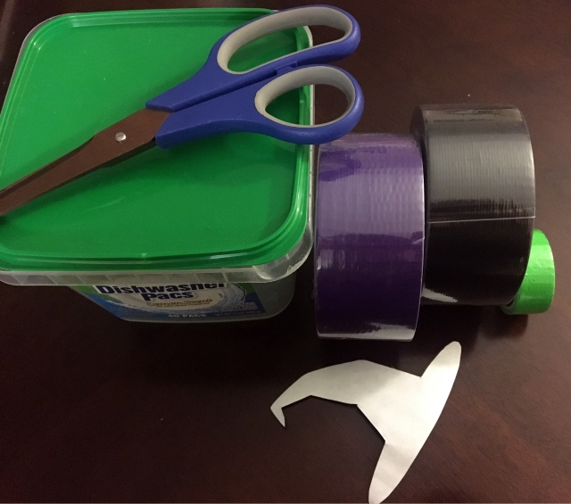 diy duck tape candy bowl supplies