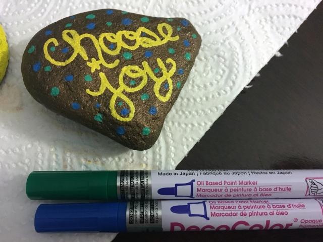 choose joy motivational rock
