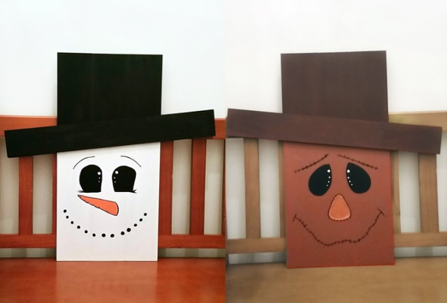DIY-snowman-scarecrow-decor-reversible