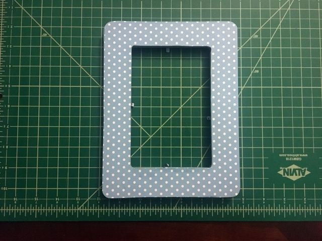 scrapbook paper decorated frame