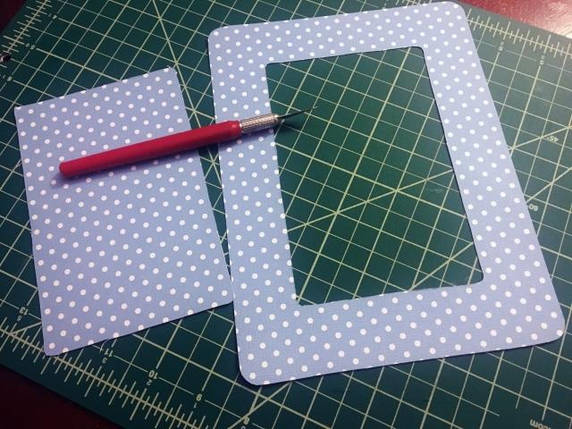 scrapbook paper frame cutouts