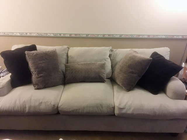 re-stuffed couch finished